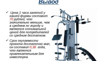 Бизнес-план спортивного зала ценового сегмента «лоу-кост»
