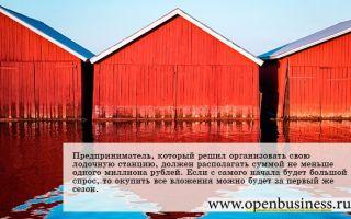 Как открыть лодочную станцию