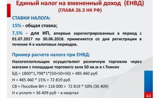 Как рассчитать единый налог на вменённый доход (енвд)