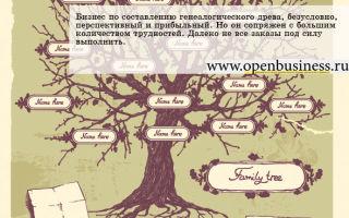 Свой генеалогический бизнес: составление семейных летописей
