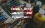 Свой бизнес: магазин для художников