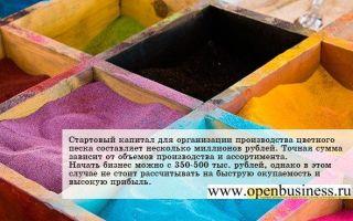 Свой бизнес: производство цветного песка
