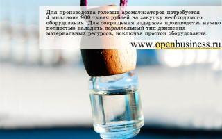 Как открыть бизнес по производству гелевых ароматизаторов