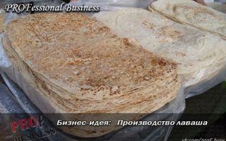 Открываем бизнес по производству тонкого лаваша