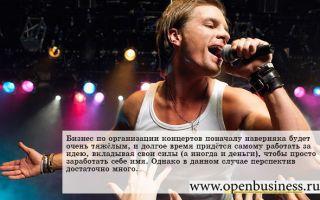 Бизнес по организации концертов