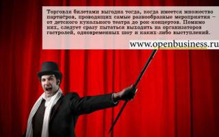 Как открыть бизнес по реализации билетов на культурно-зрелищные мероприятия