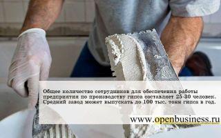 Свой бизнес: производство строительного гипса