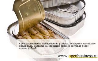 Упаковка рыбных консервов и пресервов