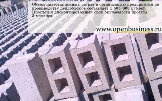 Бизнес-план предприятия по производству пеплоблоков